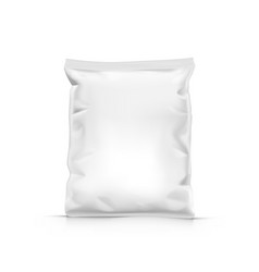 White stand up sealed empty plastic bag package vector