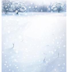 Winter snowfall vector