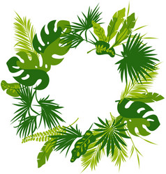 wreath tropical leaves vector image