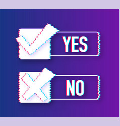 yes no word text on talk shape stock vector image