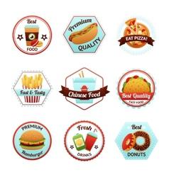 Fast food emblems vector