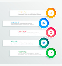 five circular infographic banners vector image
