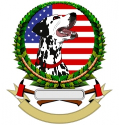 logo with dalmatians vector image