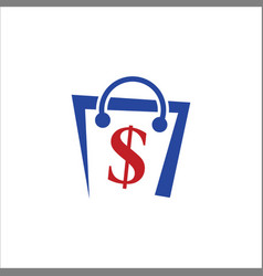 money bag dollar logo vector image