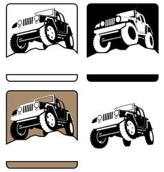 offroad symbol vector image vector image