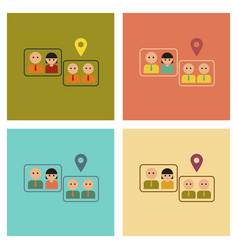assembly flat icons gay marriage vector image
