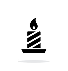 Christmas candle icon on white background vector image