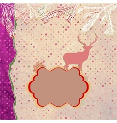 Christmas Reindeer Card vector image vector image