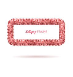 lollipop red rectangle frame vector image