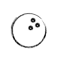 monochrome sketch of bowling ball vector image vector image