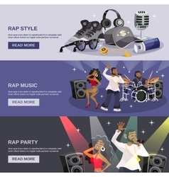 Rap Music Banner vector image