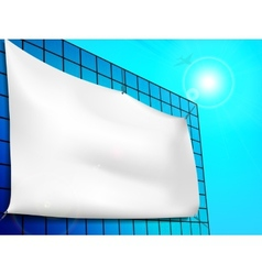 Blank billboard ad on the building vector image