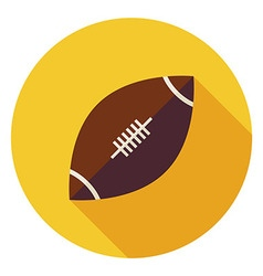 Flat Sports Ball American Football Circle Icon vector image