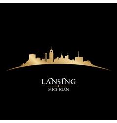 Lansing Michigan city skyline silhouette vector image vector image