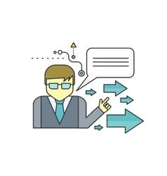 Mentor Concept Icon vector image vector image