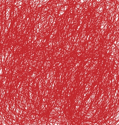 red Christmas hand drawn background vector image vector image