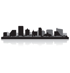 Atlantic city USA skyline silhouette vector image vector image