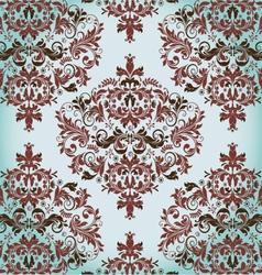 floral vintage damask background vector image vector image