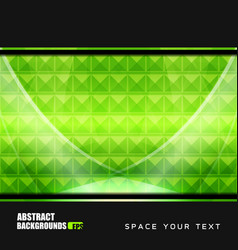 geometric green backgrounds design vector image vector image