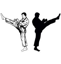 karateVer1 vector image vector image