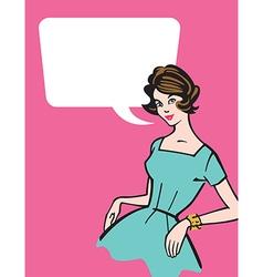 Retro 1950s Housewife vector image