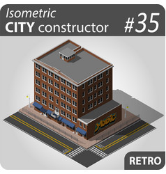 retro isometric house vector image