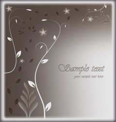 Stylized card with floral background vector image vector image