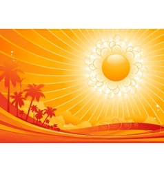 tropical background vector image