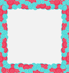 abstract blue and pink color frame background vector image