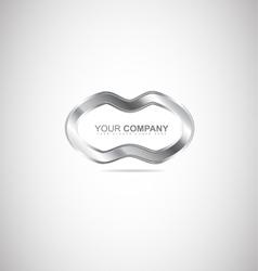 Abstract metal silver logo vector