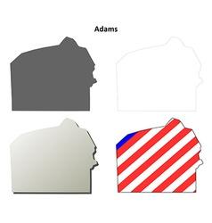 Adams map icon set vector