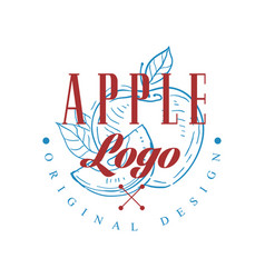 apple logo original design retro emblem for shop vector image
