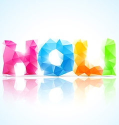 Artistic holi text vector