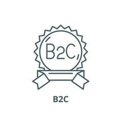 B2c line icon outline sign concept vector
