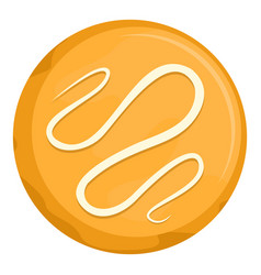 bagel icon flat style vector image
