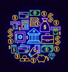 banking neon concept vector image