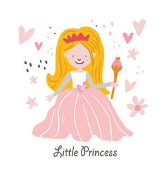 beautiful blond hair princess rapunzel vector image