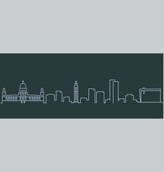 belfast single line skyline profile vector image