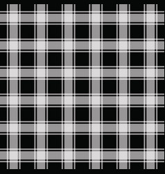 black gingham pattern seamless background vector image