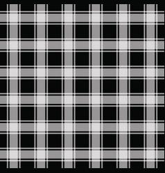 Black gingham pattern seamless background vector