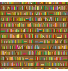 bookshelves vector image