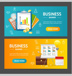 business banner horizontal set vector image