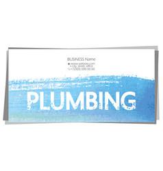 Business card concept for plumbing repair vector