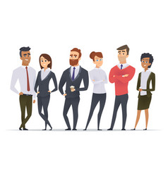 business team professional workers happy partners vector image