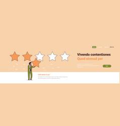 Businessman giving quality feedback customer vector