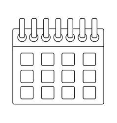 calendar planner template for week starts vector image