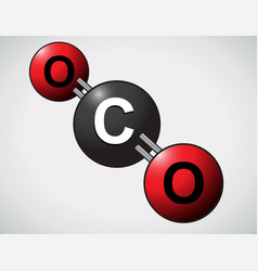 Carbon dioxide atoms vector