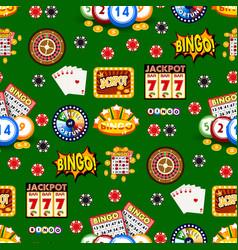 Casino gambling win luck fortune gamble play game vector