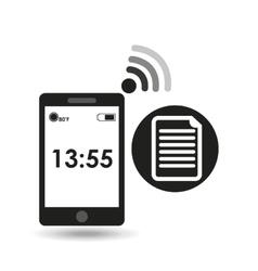 cellphone internet file network media icon vector image