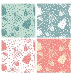 Christmas doodle seamless pattern vector image